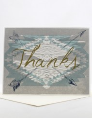Southwestern design thank you card