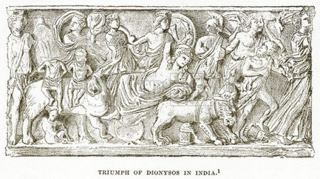 Triumph of Dionysos in India