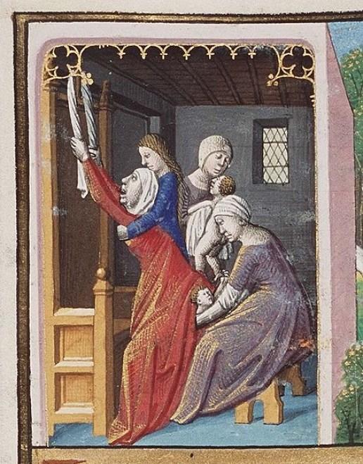 medieval-birth-scene