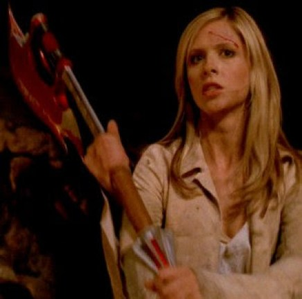 Image result for buffy's special slayer scythe