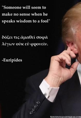 wisdom to afool