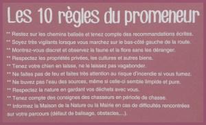Les 10 règles du promeneur70