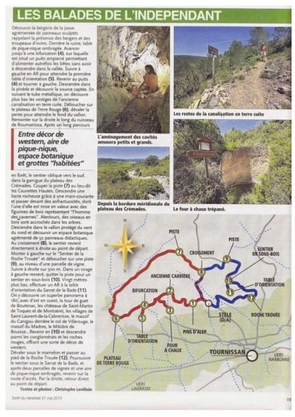 Independant du 31 mai 2013 Balade Tournissan Sentier Francis Lastenouse 3