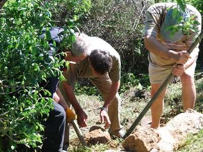 Avril : Nettoyage de printemps à la stèle et sur la partie botanique