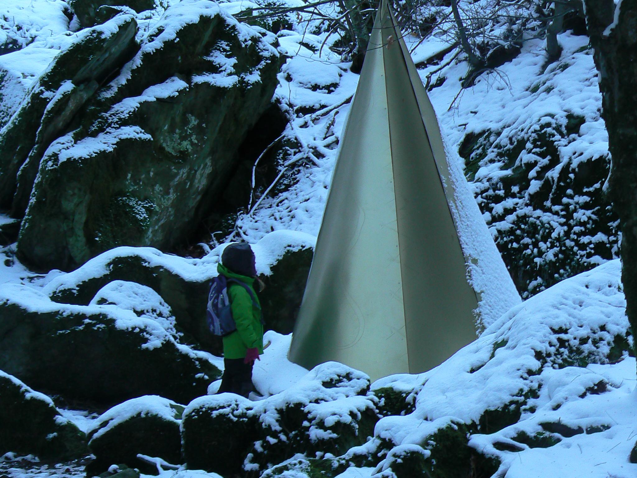 A Castagno d'Andrea in Falterona, visita alla Grotta delle fate