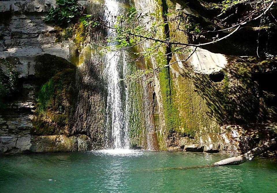 Le piscine naturali dell'Acquacheta