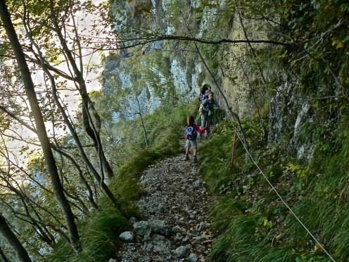 Il sentiero per esperti verso il Procinto