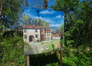 I quadri lungo la ciclabile, nei pressi di Ponte a Vicchio