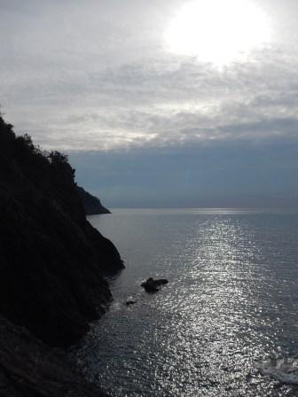 Scorci sul mare dala ciclopedonale
