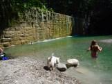 Bagno nel fiume alla peschiera
