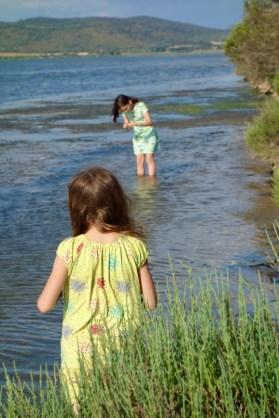 Ai bordi della laguna c'è una piccola spiaggia fatta solo di conchiglie