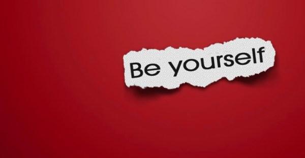 Seja você mesma! Você está com seu amigo!
