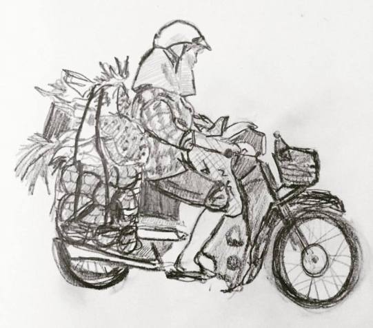 sketching-hoi-an-motorcyclist