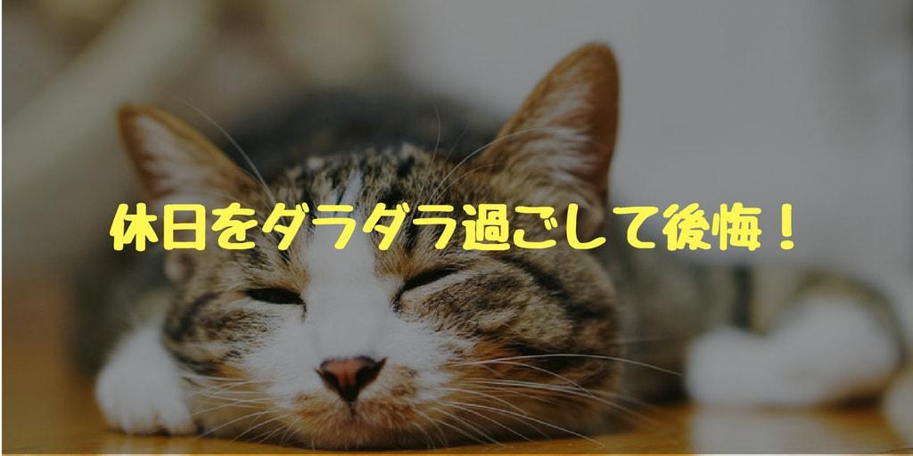 休日をダラダラ過ごして後悔!「明日から本気出す」をなくすコツ!!