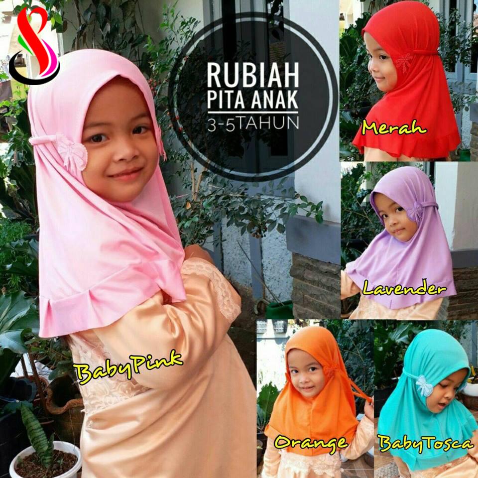 Hijab Rubiah Pita Anak 15-17-25-250 SG Jilbab