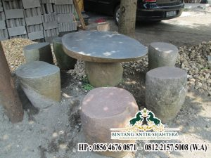 Meja Batu Alam Berkualitas Jual Meja Batu Kali