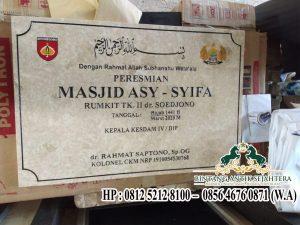 Jual Prasasti dari Bahan Marmer Terlengkap Surabaya