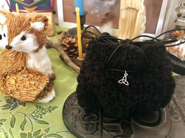 Pochon tricoté acrylique noire ©Sentulia (1)