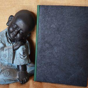 carnet artisanal A5 noir et émeraude ©Sentulia (1)