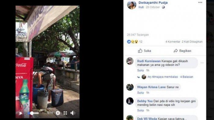 Menyedihkan, Turis Asing Mengais Sampah dan Memakannya di Bali