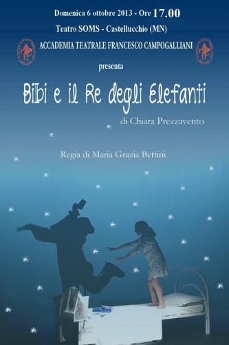 bibi e il re degli elefanti,accademia teatrale campogalliani,teatro soms