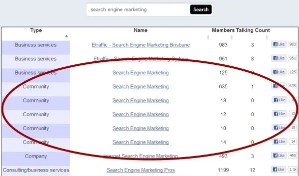 Facebook Marketing for Search Engine Marketing