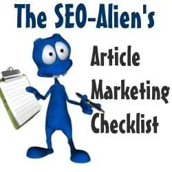 Article Marketing Checklist