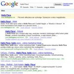 Google találati tábla