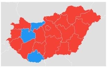 Megyei szinten a Google Trends-ben a Fidesz a nyerő