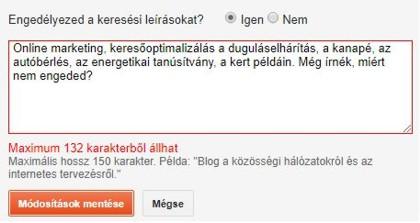 Blogger meta description