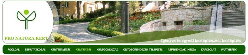 A Pro Natura Kert honlapja