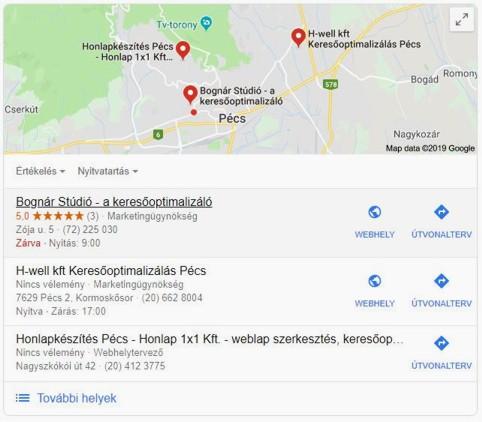 Helyi találatok: Pécs. Élen a Bognár Stúdió.
