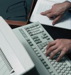 szövegírás klaviatúrán