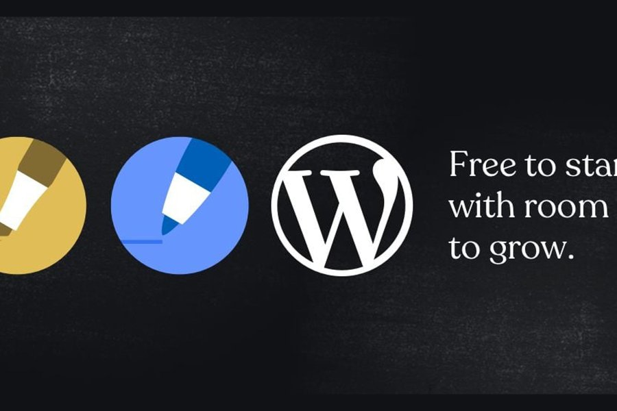 graphic of wp.com free start