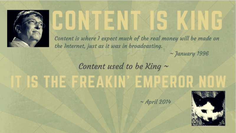 Content is King - SEO Content is Emperor