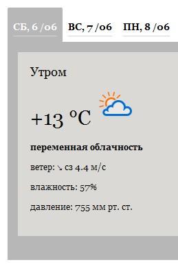 Информер погоды: делаем сами