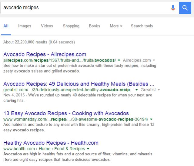 search-query-avocado-recipes