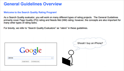 Google Search Quality Rating Program