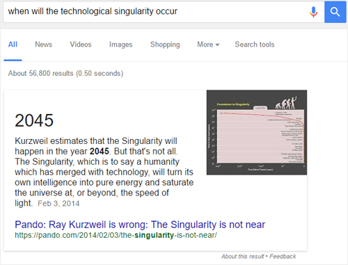 instant answers google search