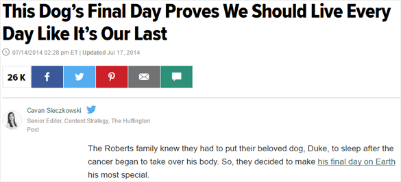 Huffington Post I Died Today