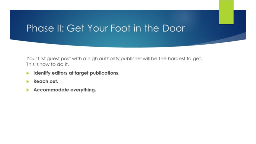Publisher Outreach