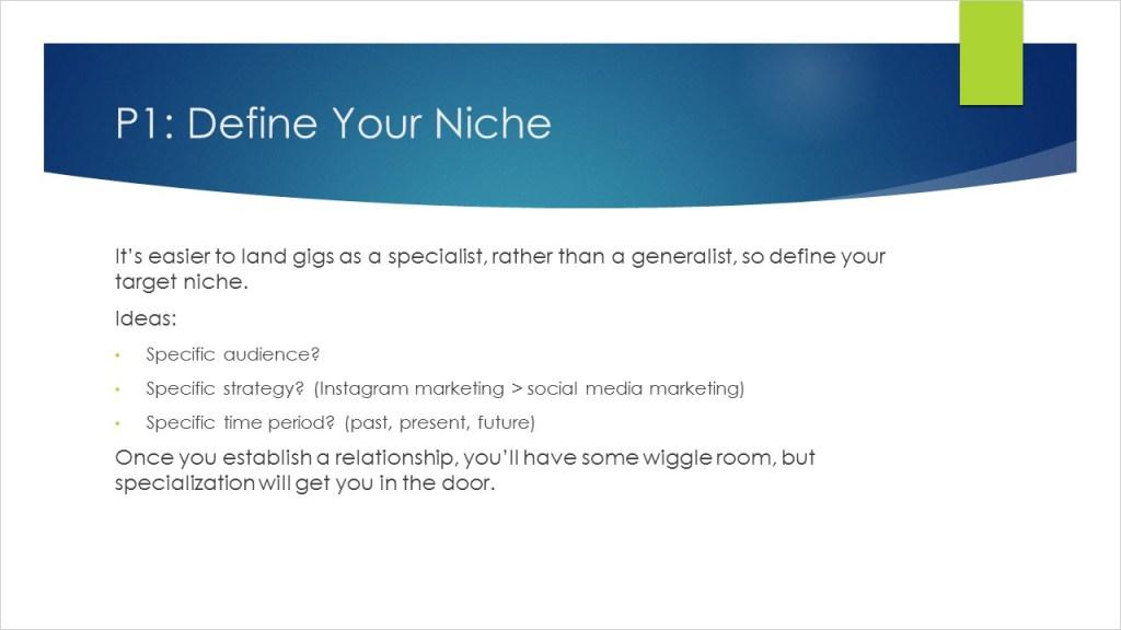 Define Your Niche