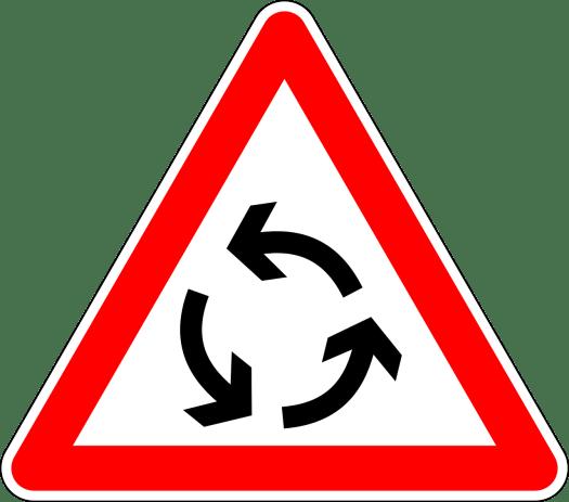 panneau carrefour à sens giratoire