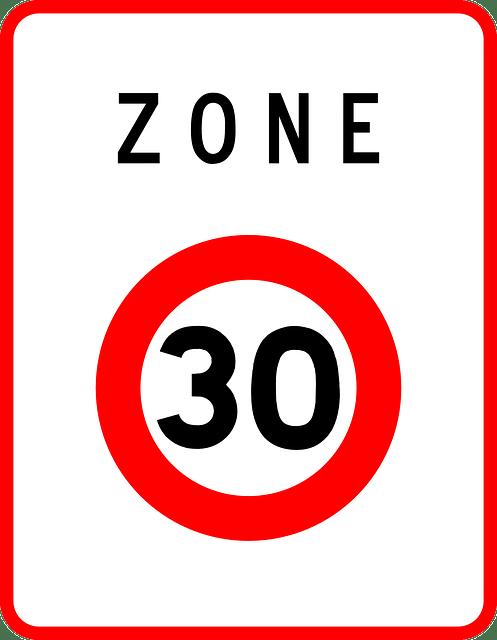 limitation de la vitesse en agglomération