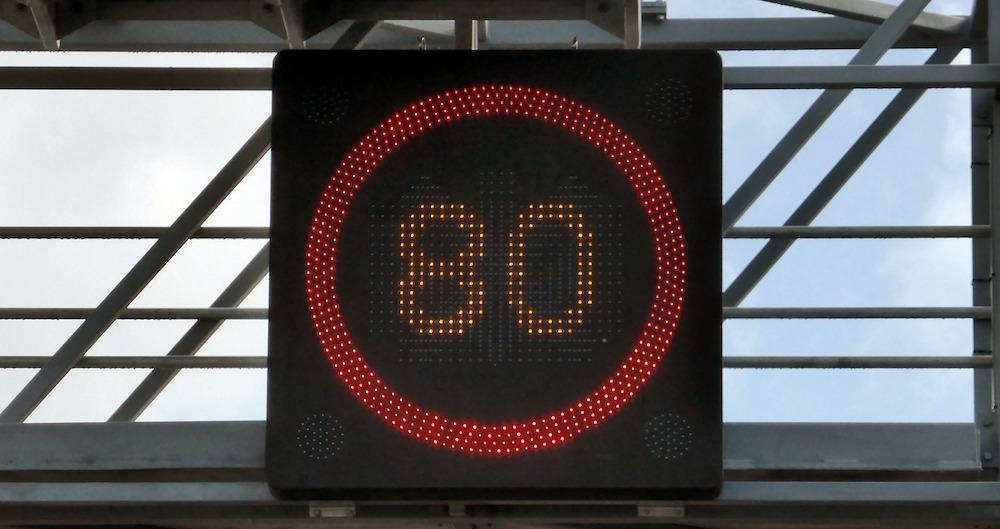 La limitation de vitesse à 80 km/h