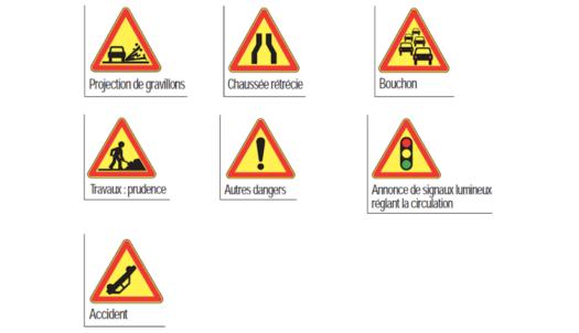 panneau signalisation jaune danger