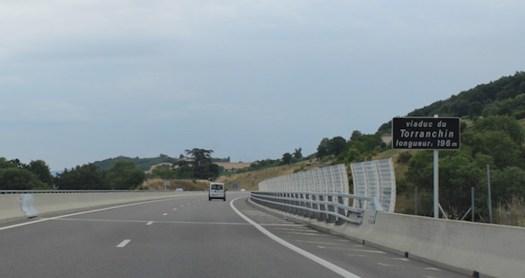 panneau de localisation d'un viaduc