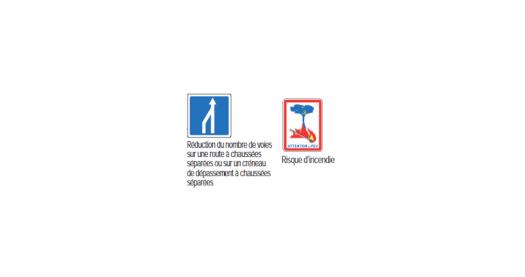Exemples de panneaux d'indication du code de la route.