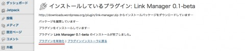 Link Managerの有効化