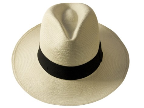 8e1b2748 A traditional Panama hat, complete with its wide brim, perfect for  protection from the tropic sun